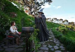 "Martin Freeman and Ian McKellan in ""The Hobbit"""