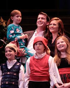 "Mark Linehan and Erin Brehm star in ""It's A Wonderful Life,"" playing through Dec. 23 at Stoneham Theatre"