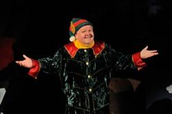 Lennie Watts stars as Crumpet the Elf in the hilarious, yet sardonic comedy, 'Santaland Diaries,' being presented at the new Ocean State Theatre