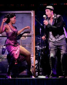 Felicia Boswell (Felicia) & Bryan Fenkart (Huey) and the National Touring cast of MEMPHIS playing through Dec. 23 at the Colonial Theatre
