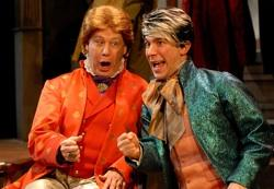 John Michael Richardson as Emperor Joseph II and Andrew Iacovelli as Mozart
