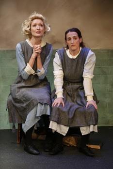 Rachel Pickup (Persephone) and Aedin Moloney (Dora) in Charlotte Jones' 'Airswimming'