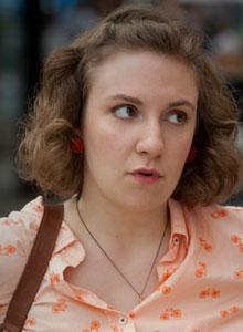 Lena Dunham in a scene from GIRLS