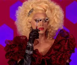 "RuPaul eyes a contestant in season five of ""RuPaul's Drag Race,"" premiering January 28."
