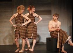 Elizabeth Aspenlieder, Emily Taplin Boyd, Dustin Charles in 'Christmas Eve, Many Years From Now'