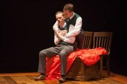Rex Daugherty, left, and Jefferson Farber) get caught up in their reading of 'Romeo and Juliet'