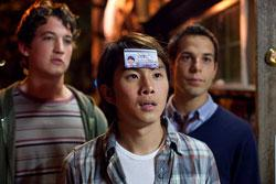 Skylar Astin, Justin Chon and Miles Teller