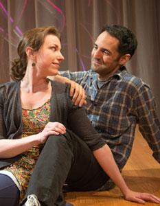 Liz Hayes and Nael Nacer in 'Lungs,' continuing through March 10 at the New Repertory Theatre in Watertown
