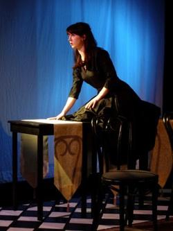 """Meaghan Halverson appears in the Macha Monkey staging of """"Cliffhouse."""""""