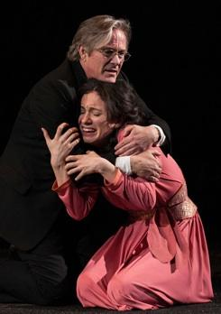 James Newcomb (Duke) and Alejandra Escalante (Isabella) in Shakespeare's 'Measure for Measure'