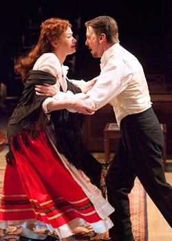 Gretchen Hall as Nora Helmer and Fred Arsenault as Torvald Helmer in Henrik Ibsen's 'A Doll's House'