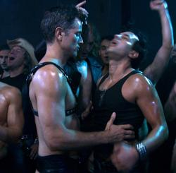 """Scene from """"Interior: Leather Bar"""""""