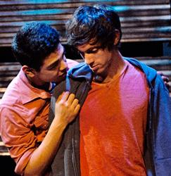 "Eric Esquivel and Dan Tracer play small-town teens whose relationship is caught up in a bitter community feud in ""The Bus"" at New Conservatory Theatre Center. Photo: Lois Tema"