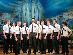 "The cast of the national tour of ""The Book of Mormon"""