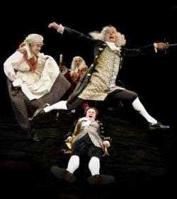 Matt Shimkus, Bill Johns, Nathan Jeffrey and Aaron Lamb in 'Bach at Leipzig' at Taproot Theatre