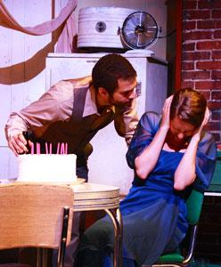 Jesse James Woods and Danielle Kellerman in 'A Streetcar Named Desire,' continuing through July 7 at The Factory Theater