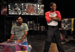 "Kadahj Bennett and Jared Brown in 'How We Got On,"" continuing through Aug. 17 at the BCA"