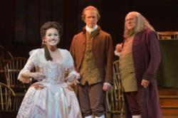 Andrea Prestinario (Martha Jefferson), John Hickok (John Adams) and Andrew Boyer (Benjamin Franklin)