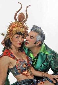 Dreya Weber as Cleopatra and Frank Ferrante as Caesar in Teatro ZinZanni's 'Hail Caesar'