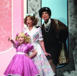 Julia Dale (Tina Denmark), Amy Miller Brennan (Judy Denmark) and Gabriel Zenone (Sylvia St. Croix)