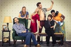 Anthony Fusco (Vanya), Caroline Kaplan (Nina), Lorri Holt (Masha), Mark Junek (Spike), Sharon Lockwood (Sonia), and Heather Alicia Simms (Cassandra).