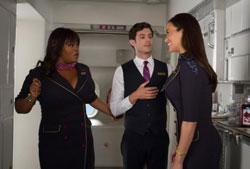 Jill Scott, Adam Brody, and Paula Patton in a scene from 'Baggage Claim'