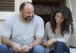 Julia Louis-Dreyfus, right, and James Gandolfini in a scene from 'Enough Said.'