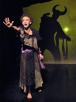 Maya Eshet (left) and Steve Peterson (silhouette) in 'The Outsider' in 'Lovecraft Nightmare Suite'