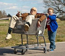 Johnny Knoxville and Jackson Nicoll star in 'Bad Grandpa'