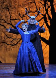 Bryn Terfel (Falstaff) and Ainhoa Arteta (Alice Ford) in San Francisco Opera's 'Falstaff.'