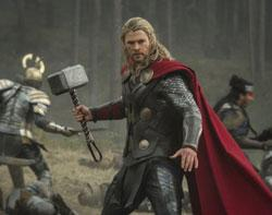 Chris Hemsworth in a scene from 'Thor: The Dark World'