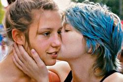 Léa Seydoux and Adèle Exarchopoulos in a scene from 'Blue Is the Warmest Color'