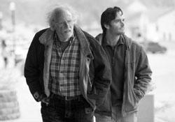 Bruce Dern and Will Forte in a scene from 'Nebraska'