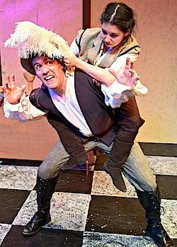 "Brendan Mulhern and Kaitee Tredway in ""The Haberdasher"""