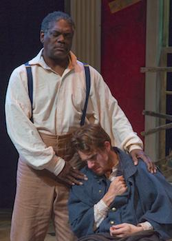 "Johnny Lee Davenport as Simon, Jesse Hinson as Caleb in ""The Whipping Man"""