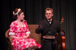 Tymberly Canale and Mikhail Baryshnikov star in 'Man in a Case,' through March 2 art Emerson Cutler Majestic Theatre