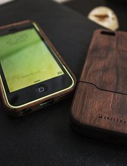 Walnut wood iPhone cases from Portland, Ore.-based Grovemade.