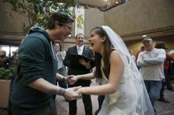 Jax and Heather Collins get married at the Salt Lake.