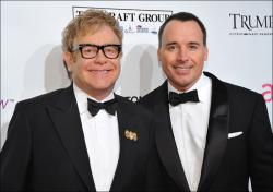 Elton John and partner David Furnish