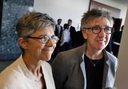 Rebecca Brinkman, left, and Margaret Burd, plaintiffs in Colorado's marriage case.