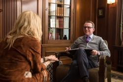 Veronica Ferres and Simon Pegg star in 'Hector and the Search for Happiness'