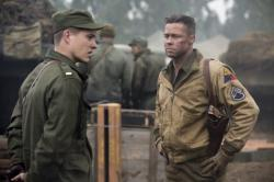 Brad Pitt and Logan Lerman star in 'Fury'