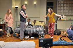 "Gillian Mariner Gordon, Victor Shopov, Alex Marz and Alison McCartan in ""Bad Jews"""