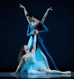 San Francisco Ballet dancers Maria Kochetkova and Vitor Luiz in George Balanchine's 'Serenade.'
