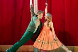 "Dominic Marsh and Hannah Vassallo in ""Tristan & Yseult"""