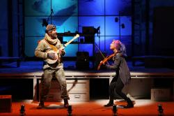"""Wade McCollum and Valeria Vigoda star in """"Ernest Shackleton Loves Me,"""" continuing through Oct. 4 at the Paramount MainStage"""