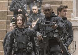 Jennifer Lawrence, Mahershala Ali, and Liam Hemsworth in 'The Hunger Games: Mockingjay - Part 2'