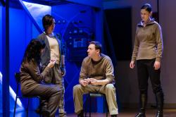 Alissa Cordeiro, Kathleen C. Lewis, James Haywrd, and Kristen Heider in 'Citizens ofthe Empire,' a space opera running through Jan. 23 at the BCA