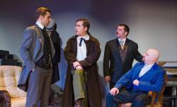 Joel Thompson (Sherlock Holmes), Jon Patrick Penick, Nathan Pease (Dr. Watson), and Brian Bengston (Dr. Mortimer)