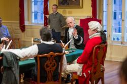 Bill Mootos, Scot Colford, Dale Place and Daniel Berger-Jones in 'Blood on the Snow,' continuing through June 5 at the Old State House
